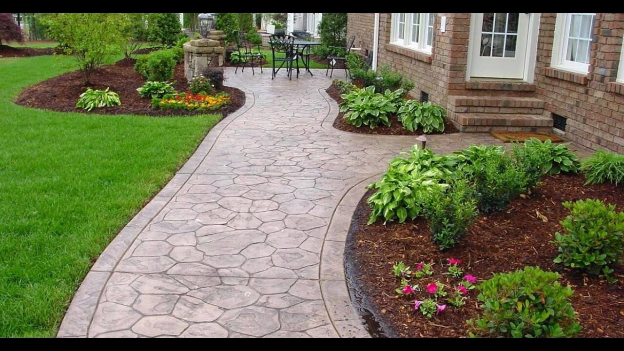Decorative Curb And Concrete